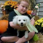 Boy with Butterfly puppy